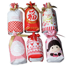 Christmas Plastic Drawstring Jewelry Pouches Dot Heart Pattern Candy Bags Cookies Snack Birthday Party Favors Packing Gifts Bag