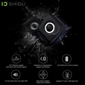 Image 4 - SHIDU 25W Portable Voice Amplifier Waterproof Mini Audio Speaker USB Lautsprecher With UHF Wireless Microphone For Teachers S92