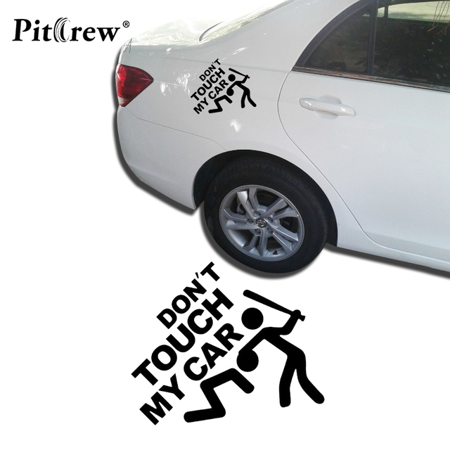 """1PC 14*12cm 2019 Safety Warning Vinyl Car stickers"""" DO NOT TOUCH MY CAR """" Car Styling car motorcycles decal styling accessories"""