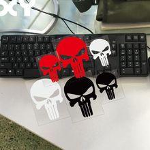 Каратель Автомобильная наклейка с черепом мотоцикл наклейки аксессуары для автомобиля черный/серебристый/красный