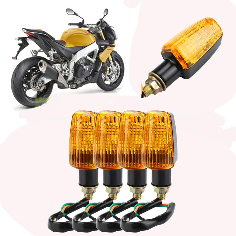 Car-styling AUTO 4 X Universal Motorcycle Motorbike Turn Signal Indicators Turning Lights Orange HOT