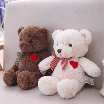 1 шт. 35 см Симпатичный плюшевый мишка игрушки мягкие хлопок медведь с сердцем кукла подарок для девочек подарок на день Святого Валентина де...