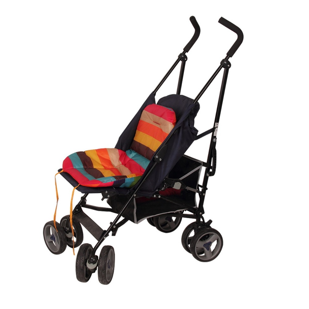 Rainbow Baby Stroller Cushion Child Cart Seat Cushion Pushchair Nylon Oxford Thick Mat 0-36 Month Baby Car Pad