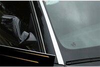 Guarnição exterior de aço inoxidável da tampa do peitoril da janela dianteira para audi a4 q3 a6 q5 a3|Estilo de cromo| |  -