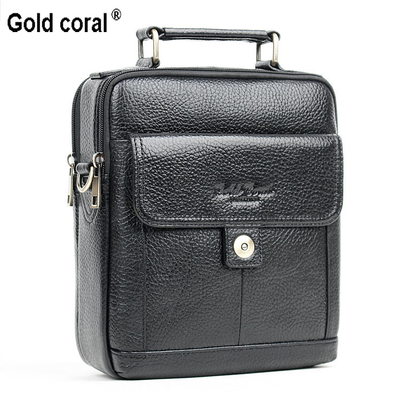 2016 New Fashion men bag 100 genuine leather messenger bag famous brand men single shoulder bag