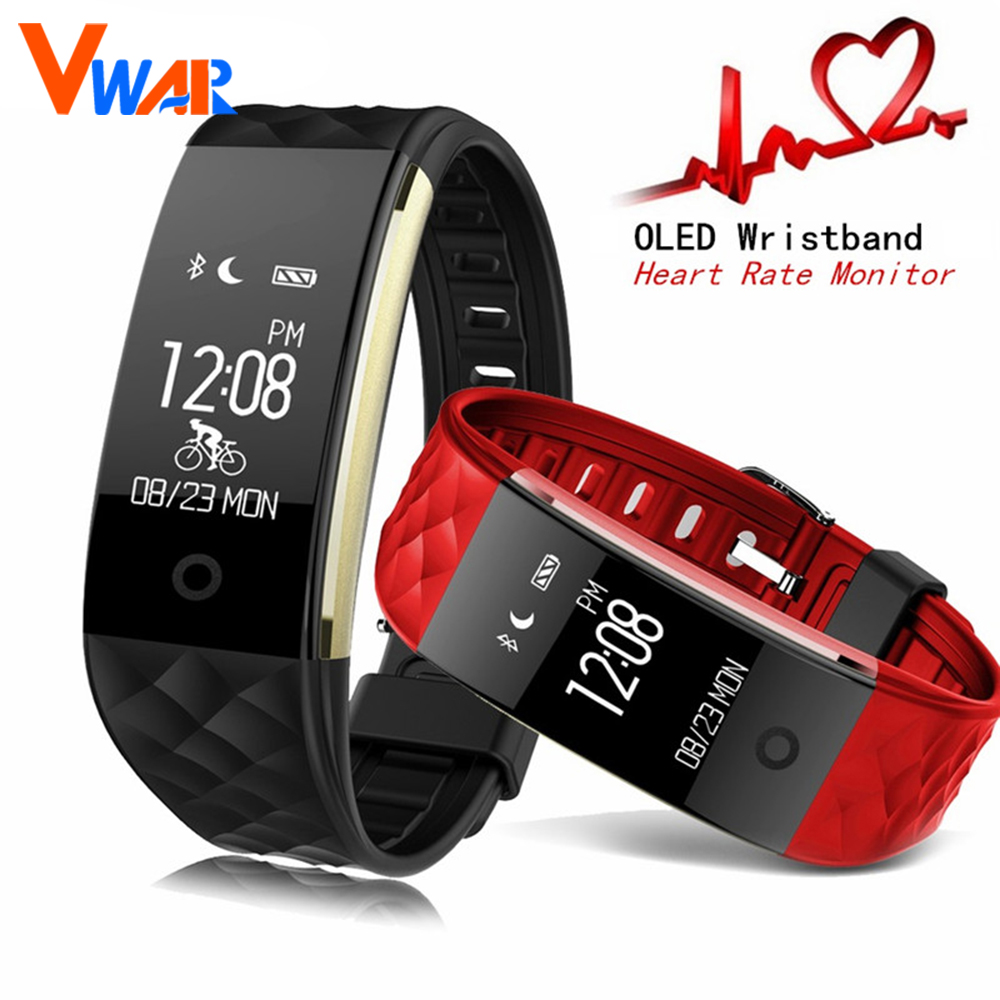 Vwar S2 Smart Band Heart Rate Monitor Sport Tracker IP67 Waterproof OLED Smartband Bracelet For Android