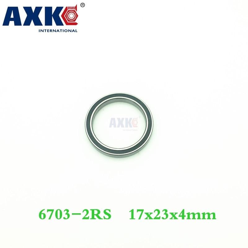 Axk 6703 Hybrid Ceramic Bearing 17*23*4 Mm Abec-1 ( 1 Pc) Industry Motor Spindle 6703hc Hybrids Si3n4 Ball Bearings 3nc 6703rs топор truper hc 1 1 4f 14951