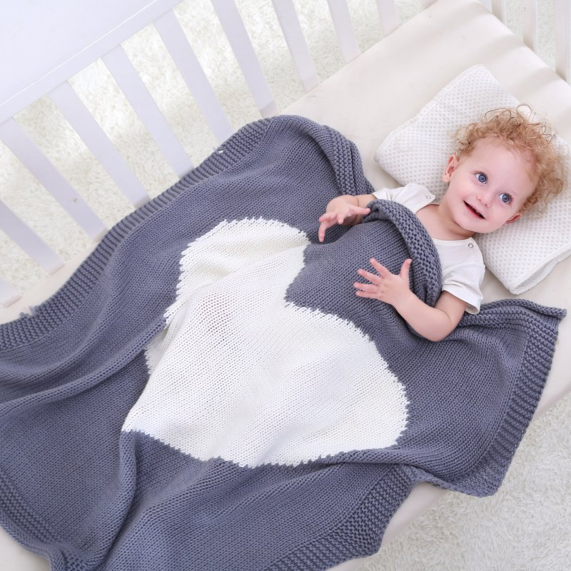 Baby Blankets Swadding Heart Yarn Crochet Newborn Blanket Kids Personalized Yarn Bedding Cover Appease Sofe Babies Photo Props