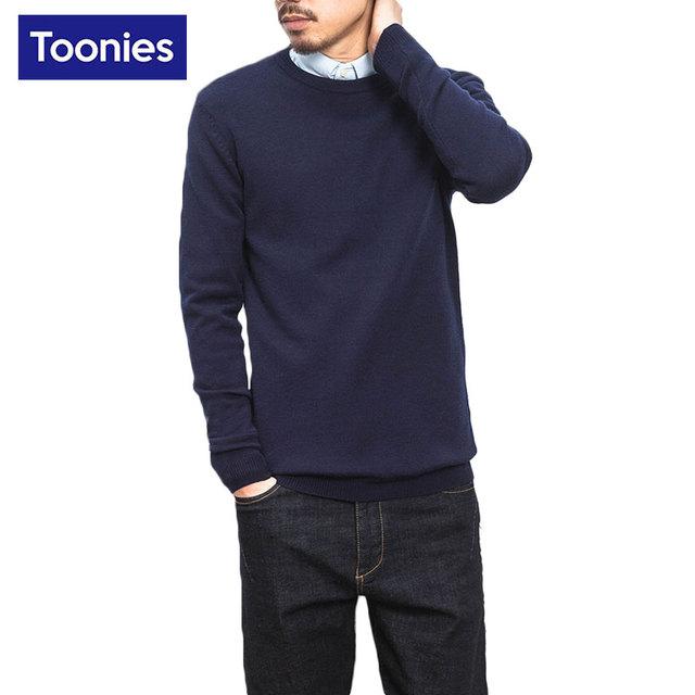 Camisolas Do Natal dos homens Camisola Dos Homens Pullover 2017 Primavera Outono Sólido de Alta Qualidade Fina Camisola Blusa Plus Size de Roupas de Marca