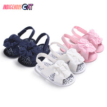 Summer Baby Shoes Children's Girl Princess Shoes Baby Girls Sweet Bow Floral First Walker Soft Soles Anti-Slip Baby Cots Shoes retro women strappy beaded woven floral print anti slip cloth shoes woman gift