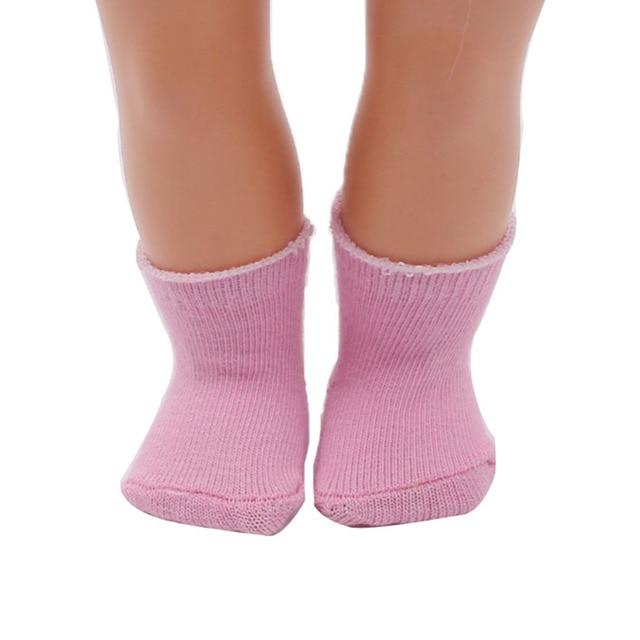 18 Zoll Puppe Socken 1 Para Passt Mädchen Puppe Kleidung Mehr
