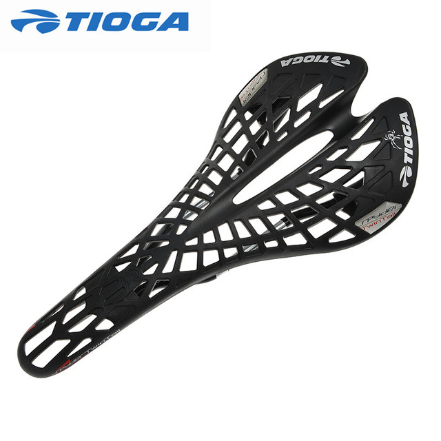 Real Tioga saddle TwinTail Saddle Super Light Road Mtb Bike Bicycle Saddle Seat 141g Black/White
