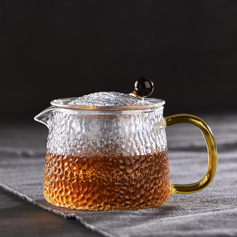 1000ml Clear Glass Tea Set Teapot Filtering Double Wall Cup Drink Home Decor YI