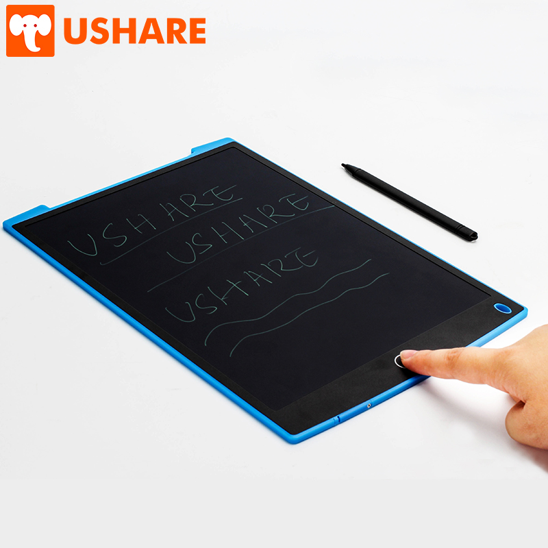 USHARE LCD Writing Board 12 Inch Digital Graphic Drawing Message Board Handwriting Pad Portable Electric Board For Children Gift
