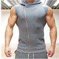 Men Cotton Hoodie Sweatshirts fitness clothes bodybuilding tank top men Sleeveless Tees Shirt Casual golds Casual Elastic vest