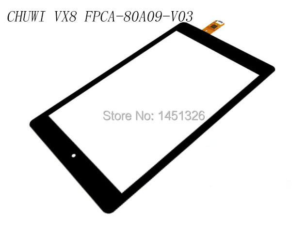 FPCA-80A09-V03 Black Digitizer Glass for CHUWI VX8 3G Touch Screen
