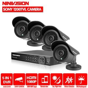 Камера видеонаблюдения h.264, 8 каналов, hdmi, 1080P, 1080N, DVR, камера безопасности sony 1200TVL, система наружного наблюдения, dvr, 1 ТБ HDD