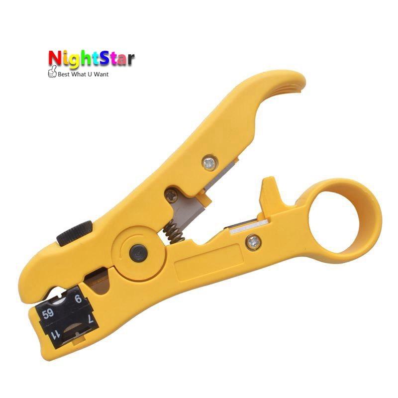 FäHig Flache Oder Runde Utp Cat5 Cat6 Draht Coax Koaxial Strippen Werkzeug Universal Kabel Stripper Cutter Stripping Zange Werkzeug Dauerhafte Modellierung Zangen