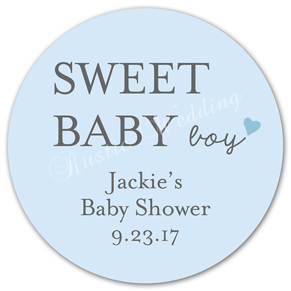 Custom Baby Shower Labels Personalized Baby Shower Stickers, Baby Shower,  Favor Stickers, Sweet Baby Boy Labels, Favor Bag In Party DIY Decorations  From ...