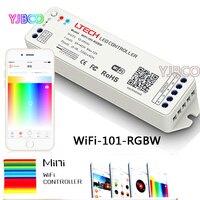 Ltech WiFi-101-RGBW DC12-24V 2.4G Android iOS APP WiFi RGBW Mini Sem Fio levou controlador Para rgbw led luz de tira