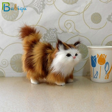 Babiqu Super Cute Cat with Sound Toy Plush Stuffed Doll Props Ornaments Hanging Pendant Gifts Collectible Boys Girls Gifts