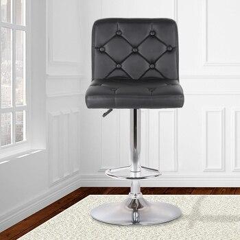 2 шт./компл. синтетическое кожаное вращающееся кресло с пуговицами, барные стулья с регулируемой высотой, стул для паба Tabouret De Bar HWC