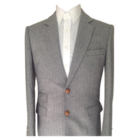 Серый твидовый пиджак в елочку индивидуальный заказ Для мужчин зимнее пальто заказ Для мужчин Блейзер, индивидуальные твидовый блейзер для