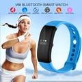 V66 smartband esporte do bluetooth pulseira inteligente ip68 à prova d' água monitor de freqüência cardíaca inteligente pulseira smartwatch para android iphone