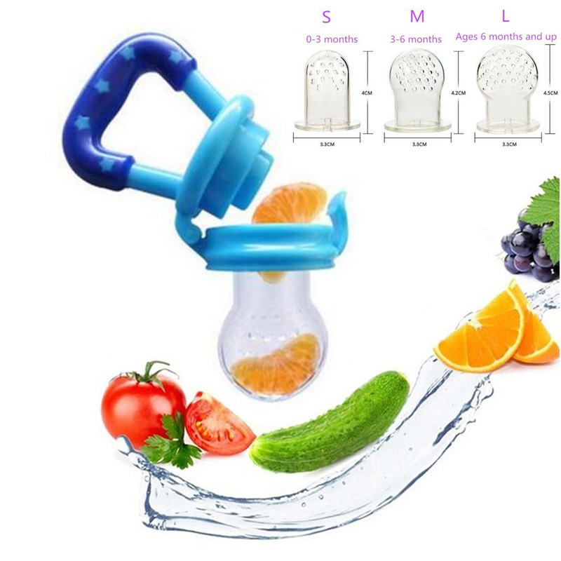 HOT SELLING Baby Nipple Fresh Food Milk Feeding Bottles Nibbler Learn Feeding Drinking W ...
