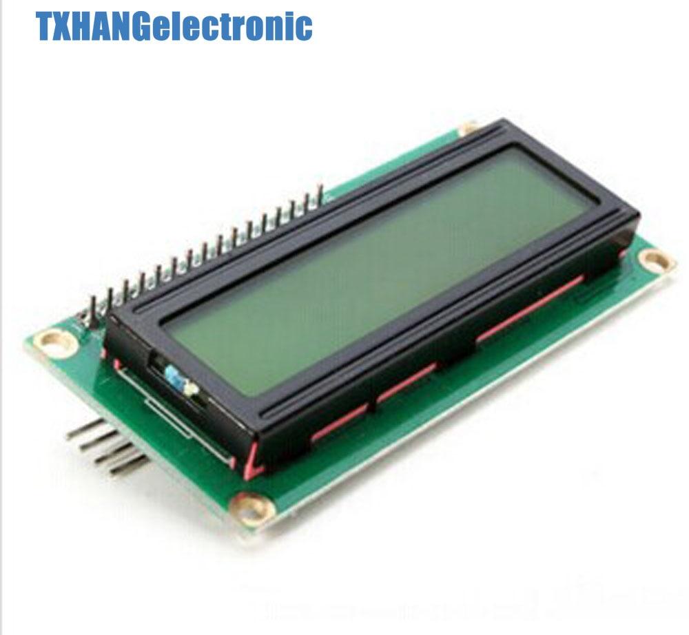 1pcs  Yellow Display IIC/I2C/TWI/SPI Serial Interface 1602 16X2 LCD Module 1602 Lcd I2c