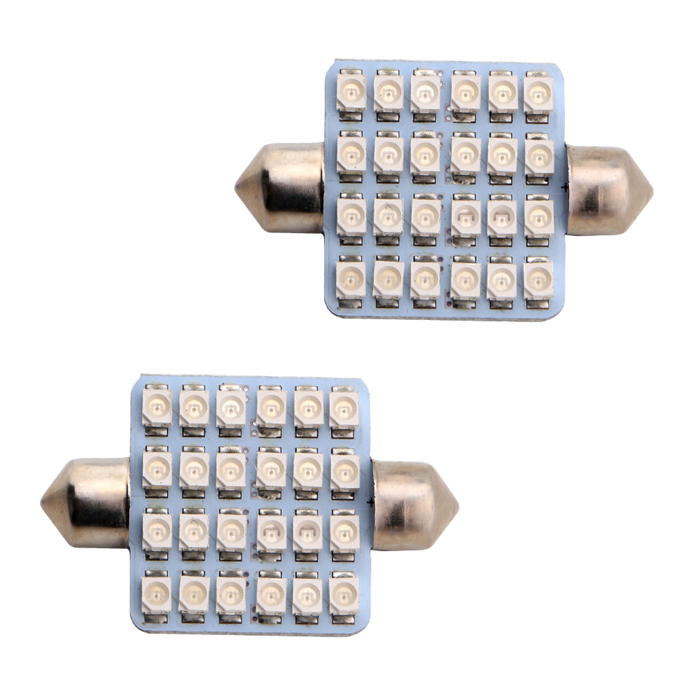 6-200pcs 39mm 12V 1210 1206 24 SMD LED Festoon Lamp Ceiling Dome Bulbs Pate Number Reading Cars Lamp 5 Colors Free Shipping