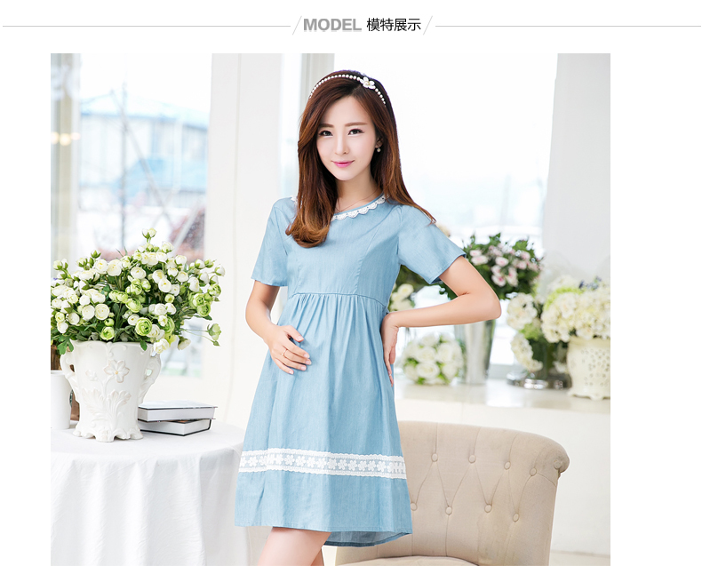 2017 Summer Maternity Dress Bow Clothes For Pregnant Women Clothing