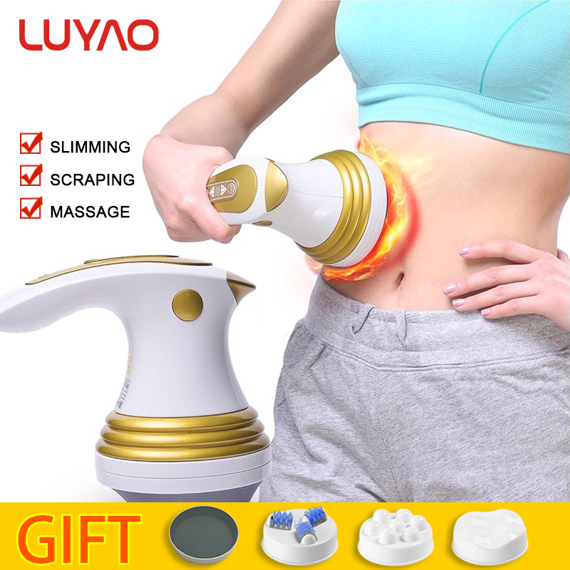 LUYAO 3 In 1 Electric Slimming Shaper Roller Massager Anti Cellulite Body Vibration Massage Loss Weight Fat Burner Massageador body slimming massage machine belly leg waist fat burner patch weight loss reduce fat anti cellulite electric vibration massager