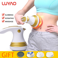 LUYAO 3 In 1 Electric Slimming Shaper Roller Massager Anti Cellulite Body Vibration Massage Loss Weight Fat Burner Massageador