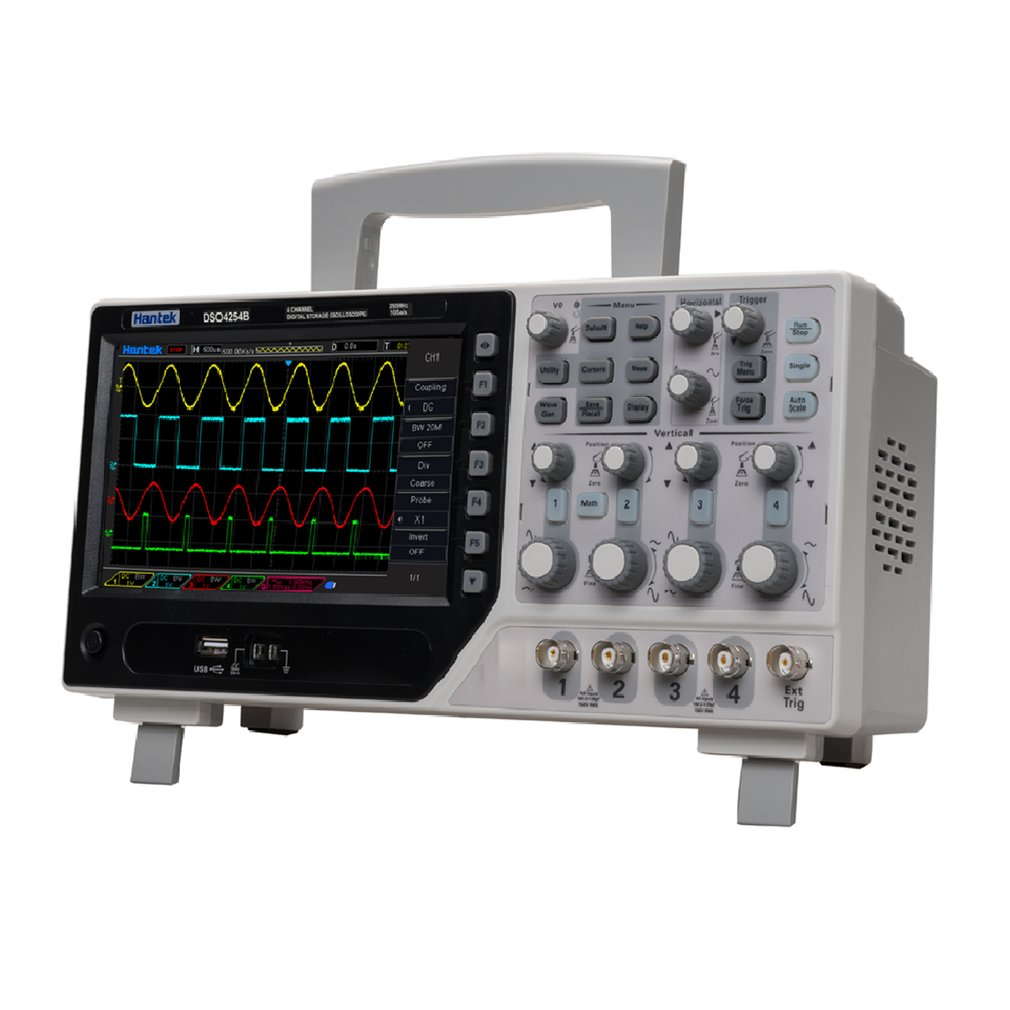 Dso4254b Digital Storage Oscilloscope 250MHz 2 channels with 24K Storage supports RS232 interface and LAN port US plug/Eu plug