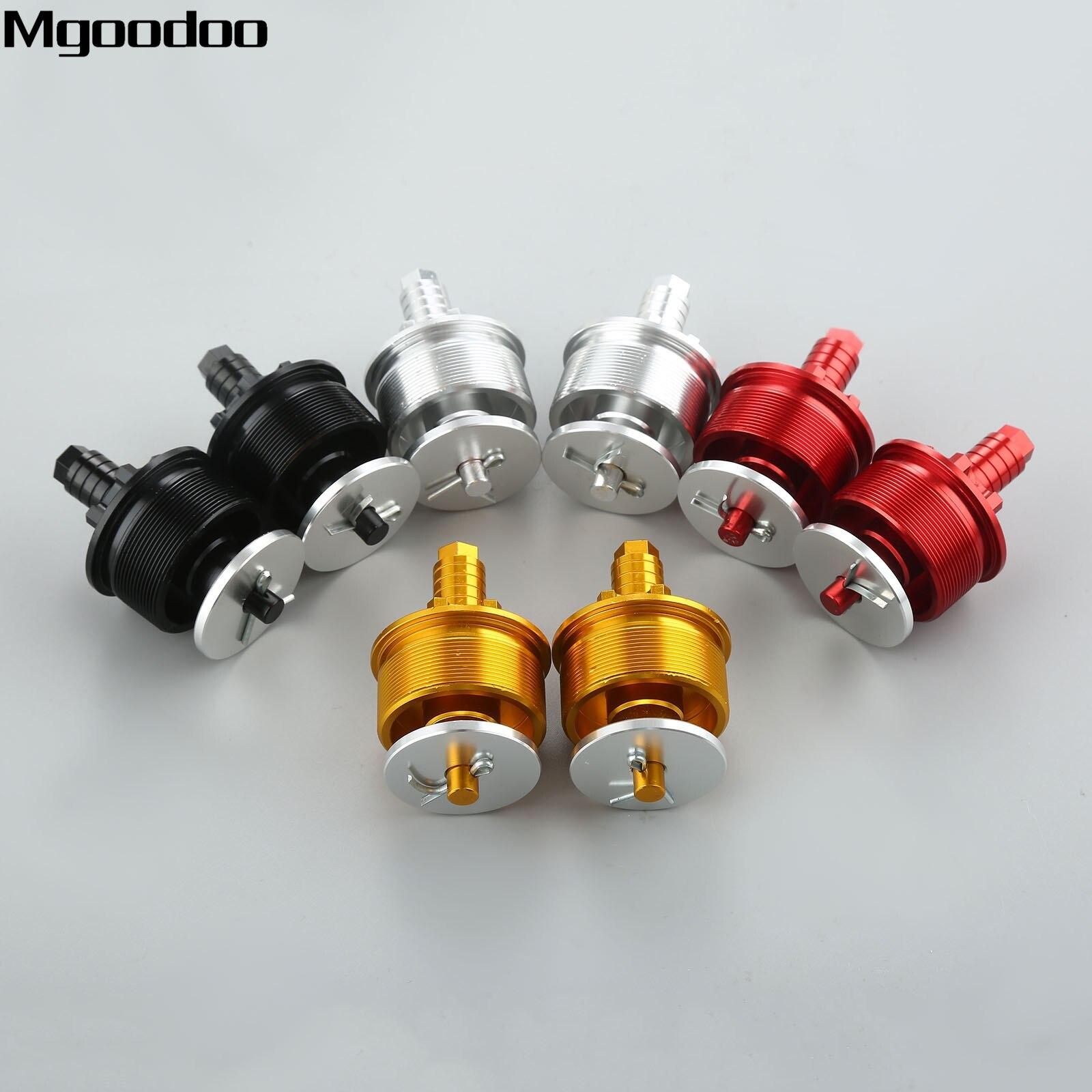 Mgoodoo 2Pcs 41MM Motorcycle CNC Preload Adjuster <font><b>Fork</b></font> Bolts Cap For Honda CB400/SR400 Motocross Enduro Dirt Bike High Quality