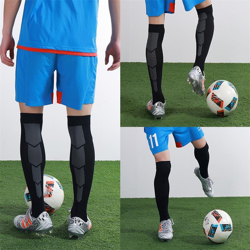 Morewin Thick Bottom Anti-slip Soccer Socks Men Women Cotton athletic Absorb Sweat Long Football Socks Sports Knee Tube Sox