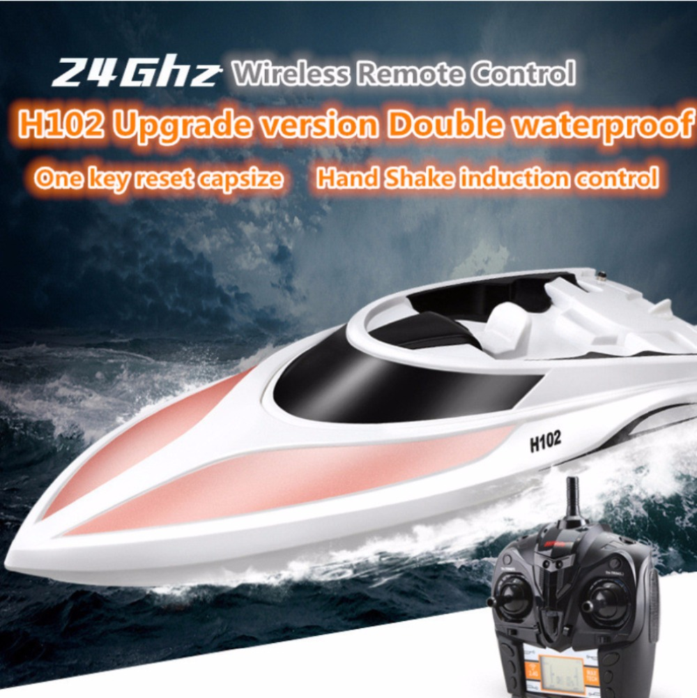 Professional Racing double waterproof RC boat 2.4g 4CH 150m 30KM/H high speed electric remote control RC speedboat Boat vs FT011 h625 rtr spike fiber glass electric racing speed boat deep vee rc boat w 3350kv brushless motor 90a esc remote control green
