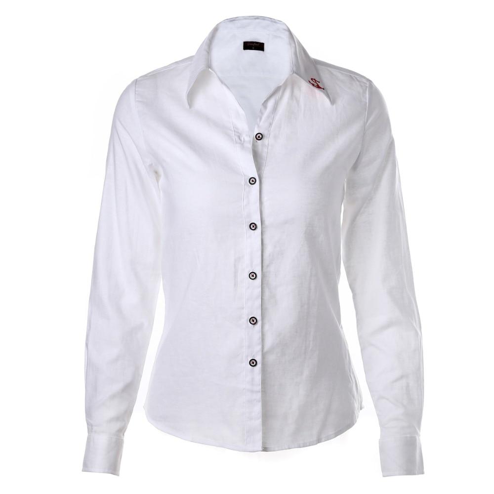 Plus Size Frauen Blusen Phenix Langarm Shirt Frauen Solide Baumwolle - Damenbekleidung - Foto 1