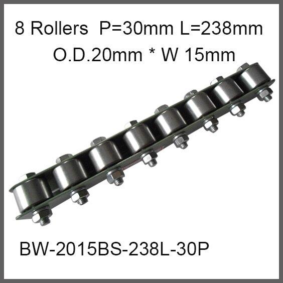 8pcs wheels 30mm Pitch * 238mm Long Skate Wheel Conveyor Wheel 20mm O.D.* 15mm Width Gravity Conveyor roller Capacity 30Kgf цена