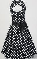 Free Shipping Wholesale Dropshipping Polka Dot Dress Knee Length Women S Rockabilly Pinup Dress Swing Dancing
