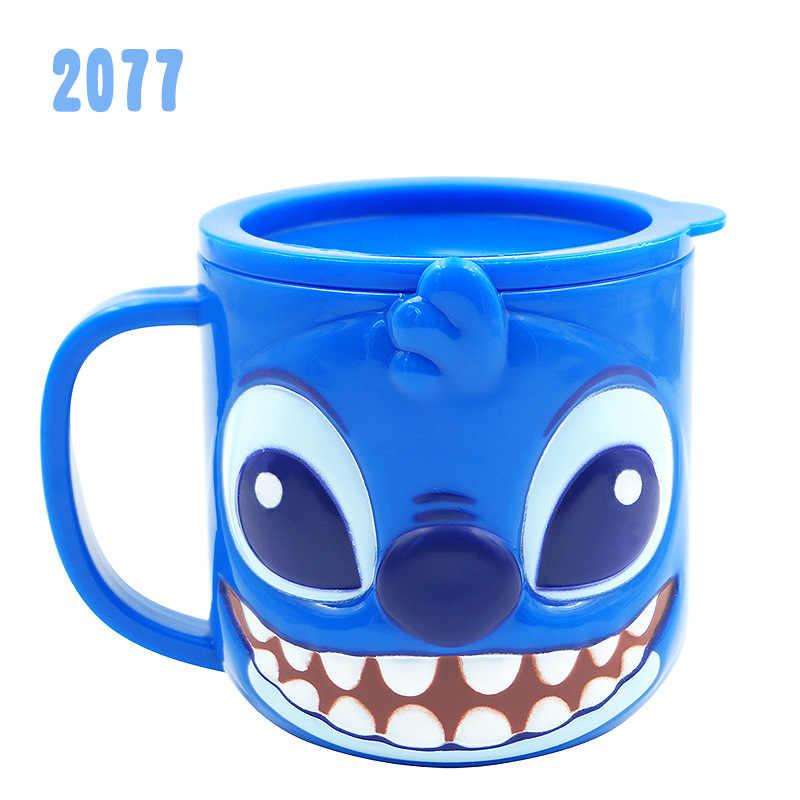 Disney Дети 3D чашка для кормления 300 мл Дети Замороженные питьевые чашки с картинками из мультфильмов сопротивление падению ABS gargle чашка с крышкой милая принцесса