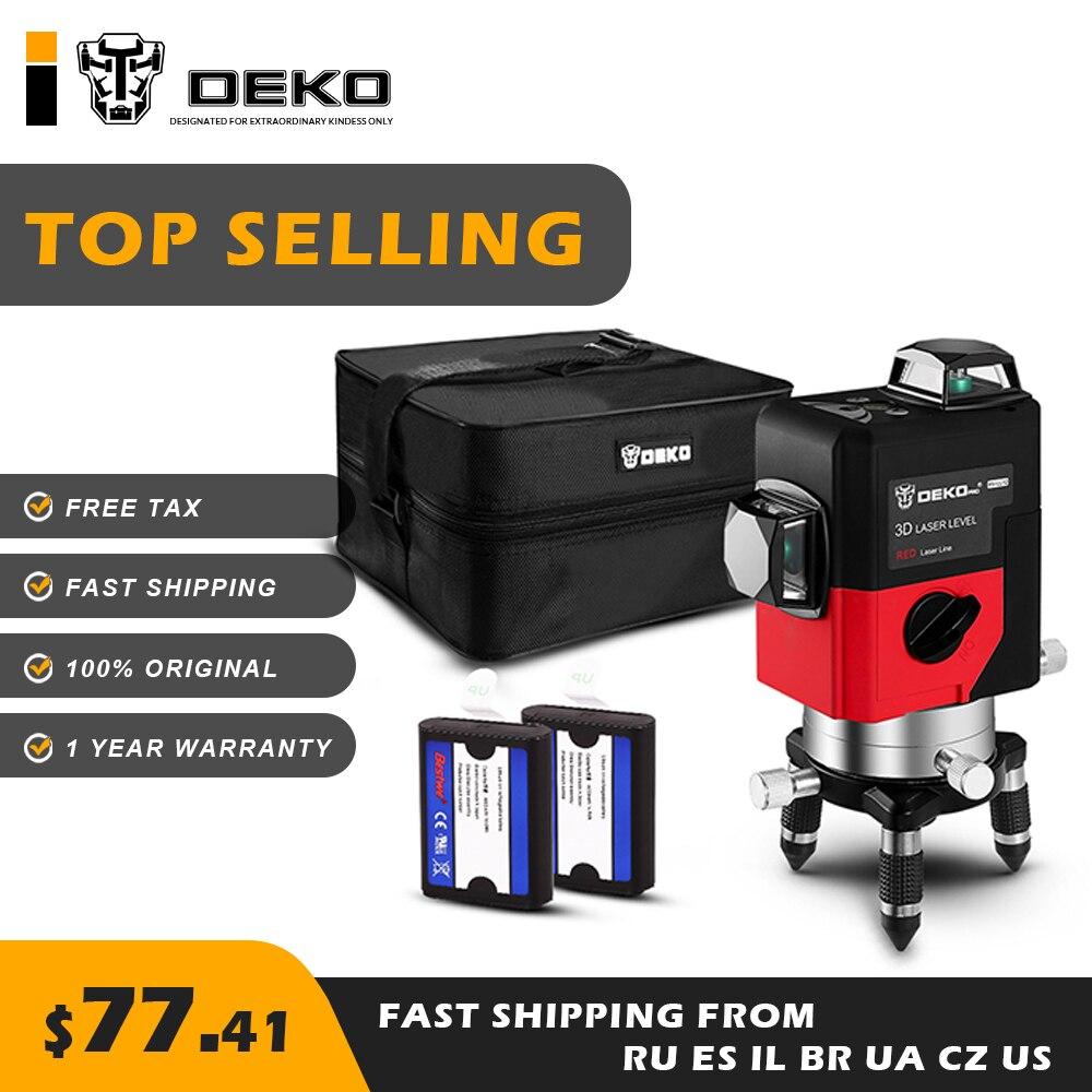 DEKO LL12 HV 12Lines 3D Laser Level Self Leveling 360 degre Horizontal Vertical Cross Powerful Intelligent