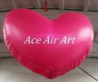Bơm Hơi khổng lồ Bóng Trái Tim Đỏ cho Valentines Trang Trí