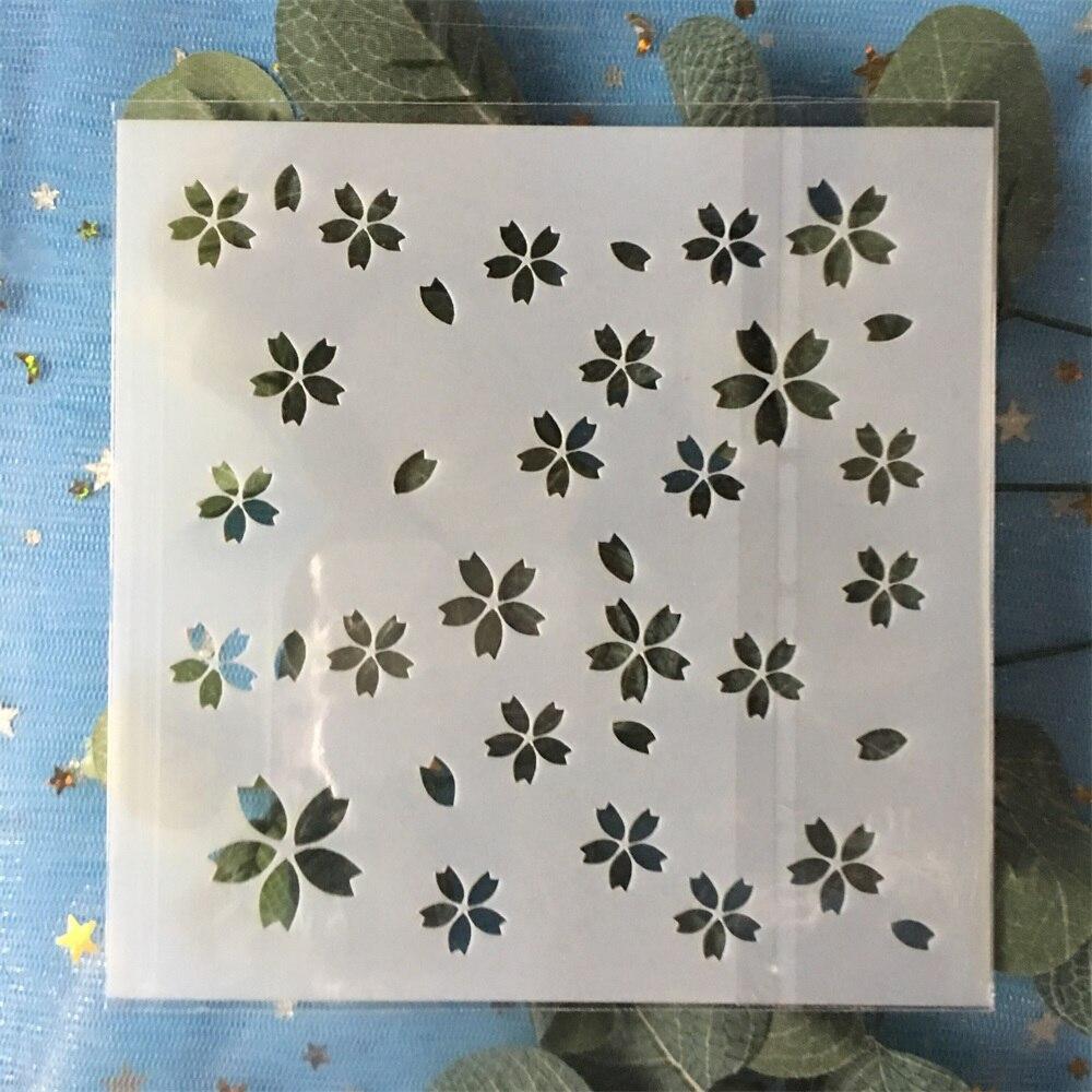 2019 13cm Plum Flower Texture DIY Layering Stencils Wall Painting Scrapbook Coloring Embossing Album Decorative Template