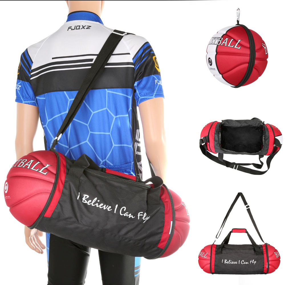 Exclusive 2015 Creative Gym Sports Bag Basketball Shrinkable Duffel School  Bags for MenWomen Waterproof Nice 2 Colors e97309f84