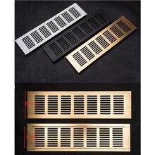 Air-Vent Ventilator Grille Shoe-Cabinet Aluminum Wide 80mm for Closet Gold Black 4pcs/Lot