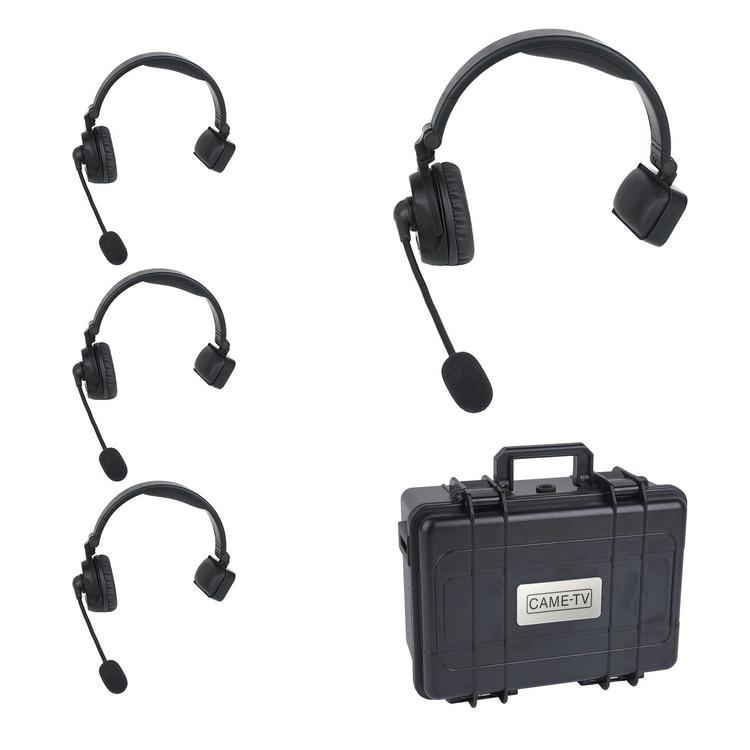 CAME-TV WAERO Duplex Digital Wireless Foldable Headset With Hardcase 4 Pack