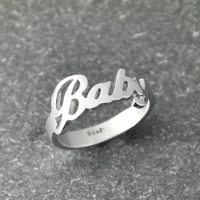 Custom Name Ring Handmade Ring Alison Font Wedding Ring Personalized Silver Name Ring Charming Ring