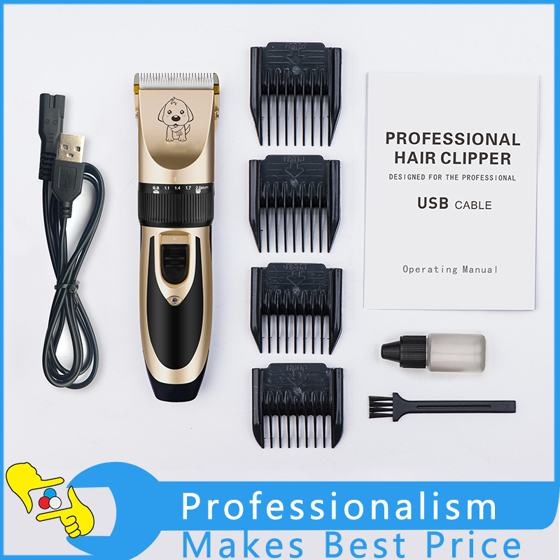 Professional Rechargeable Pet Cat Dog Fur Hair Low-noise Cordless Clipper  Trimmer Shaver Kit Electrical Clipper Shaver Kit free shipping new version bs 2400 2200w low noise per dryer pet blower with eu plug dog cat variable speed dryer pet grooming